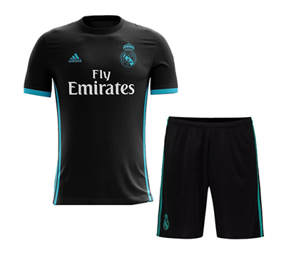 Picture of 2017/18 Real Madrid Away Half Sleeve Jersey With Pant