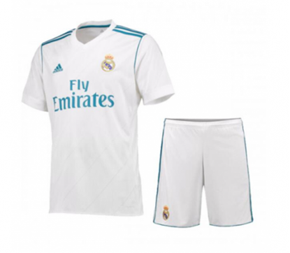 Picture of 2017/18 Real Madrid Home Half Sleeve Jersey With Pant