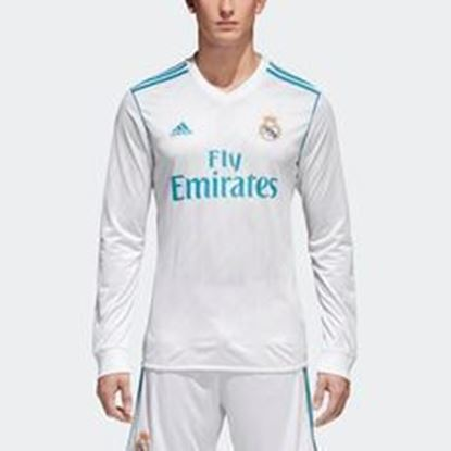Picture of 2017/18 Real Madrid Home Full Sleeve Jersey With Pant