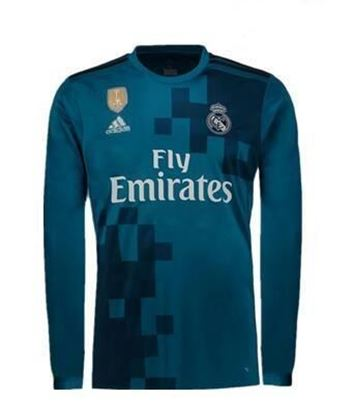 Picture of 2017-18 Real Madrid Third Away Full Sleeve Jersey
