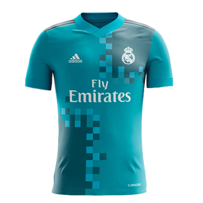 Picture of  2017-18 Real Madrid Third Away Half Sleeve Jersey