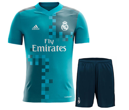 Picture of  2017-18 Real Madrid Third Away Half Sleeve Jersey With Pant