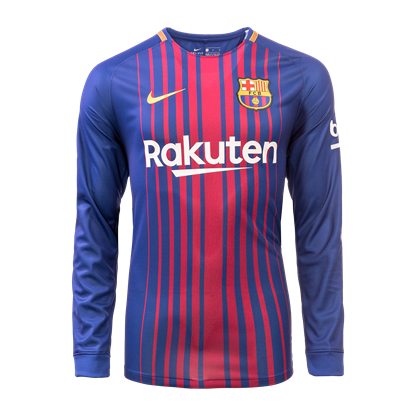Picture of 2017/18 FC Barcelona Home Full Sleeve ExclusiveJersey