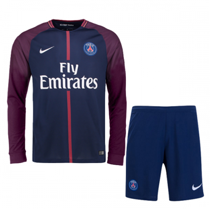 Picture of 2017-18 Paris Saint-Germain Home Full Sleeve Jersey With Pant