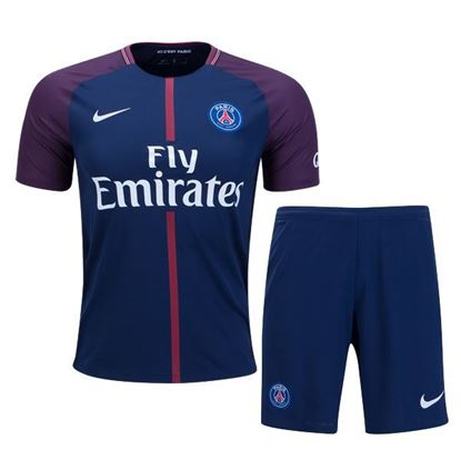 Picture of 2017-18 Paris Saint-Germain Home Half Sleeve Jersey With Pant