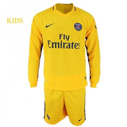 Picture of 2017-18 Paris Saint-Germain Away Full Sleeve Jersey With Pant