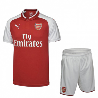 Picture of 2017-18 Arsenal Home Half Sleeve Jersey With Pant
