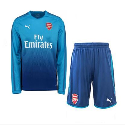 Picture of 2017-18 Arsenal Away Full Sleeve Jersey With Pant