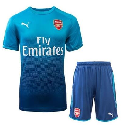 Picture of 2017-18 Arsenal Away Half Sleeve Jersey With Pant