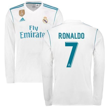 Picture of 2017/18 Ronaldo Real Madrid Home Full Sleeve Jersey