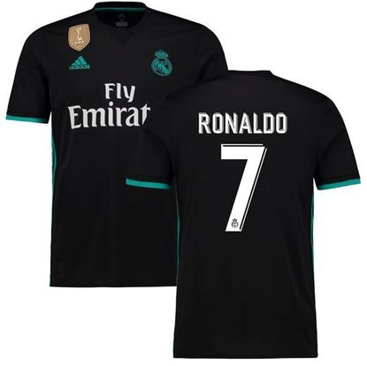 Picture of  2017/18 Ronaldo Real Madrid Away Half Sleeve Jersey
