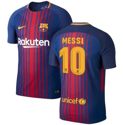 Picture of Messi 2017/18 FC Barcelona Home Half Sleeve Jersey