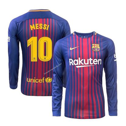 Picture of Messi 2017/18 FC Barcelona Home Full Sleeve Exclusive Jersey