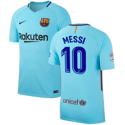 Picture of Messi 2017/18 FC Barcelona Away Half Sleeve Jersey