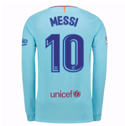 Picture of Messi 2017/18 FC Barcelona Away Full Sleeve Jersey