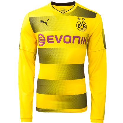 Picture of 2017-18 Borussia Dortmund Home Full Sleeve Exclusive Jersey