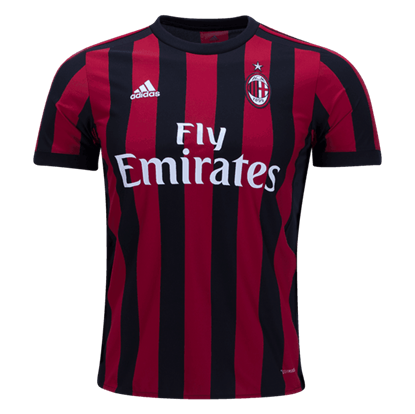 Picture of 2017-18 AC Milan Home Half Sleeve Exclusive Jersey