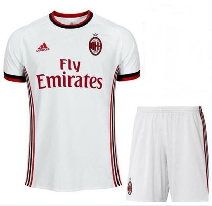 Picture of  2017/18 AC Milan Away Half Sleeve Jersey With Pant