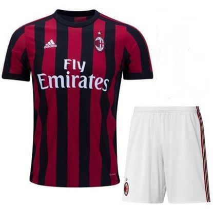 Picture of 2017-18 AC Milan Home Half Sleeve Jersey With Pant