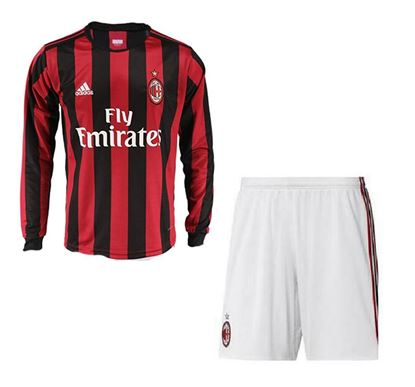 Picture of  2017-18 AC Milan Home Full Sleeve Jersey With Pant