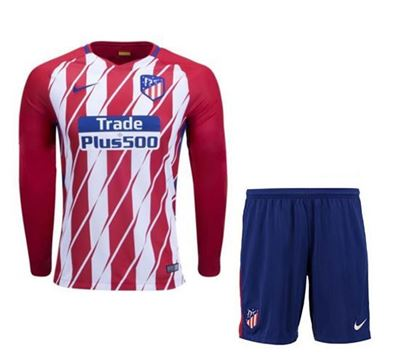 Picture of 2017/18 Atletico Madrid Home Full Sleeve Jersey With Pant