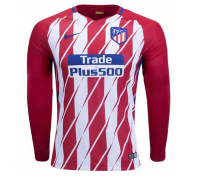 Picture of 2017/18 Atletico Madrid Home Full Sleeve Exclusive Jersey