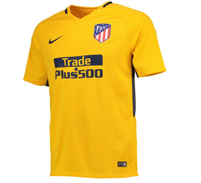 Picture of 2017/18 Atletico Madrid Away Half Sleeve Exclusive Jersey
