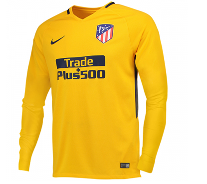 Picture of 2017/18 Atletico Madrid Away Full Sleeve Exclusive Jersey