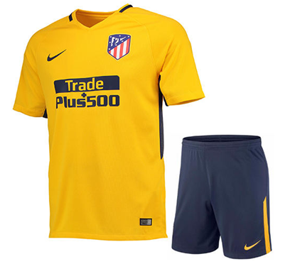 Picture of 2017/18 Atletico Madrid Away Half Sleeve Jersey With Pant