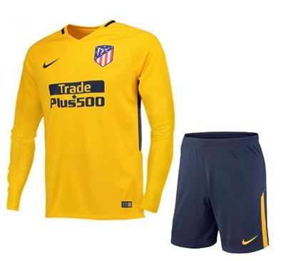 Picture of 2017/18 Atletico Madrid Away Full Sleeve Jersey With Pant