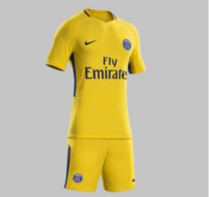 Picture of 2017-18 Paris Saint-Germain Away Half Sleeve Jersey With Pant