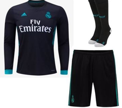Picture of 2017/18 Real Madrid Away Full Sleeve Jersey With Pant
