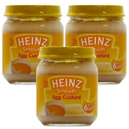 Picture of Heinz Smooth Egg Custard 6+ Months - 110gm (3Pcs)