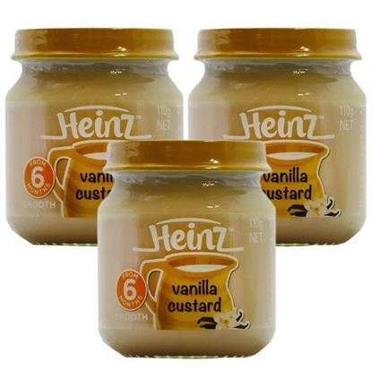 Picture of Heinz Smooth Vanilla Custard 6+ Months - 110gm(3Pcs)