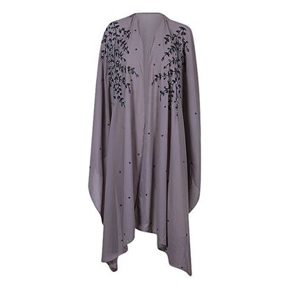 Picture of Ash and Grey Georgette Karchupi Work Casual Abaya for Women