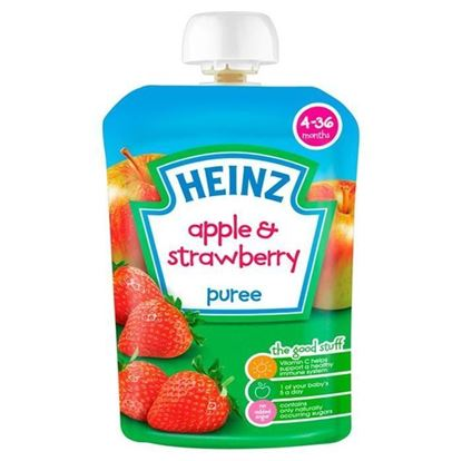 Picture of Heinz Apple & Strawberry Puree-100gm