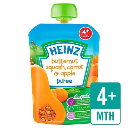 Picture of Heinz Butternut Squash,Carrot & Apple Puree-100gm