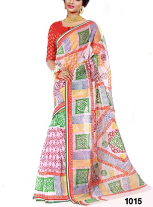 Picture of Multicolour Cotton Saree