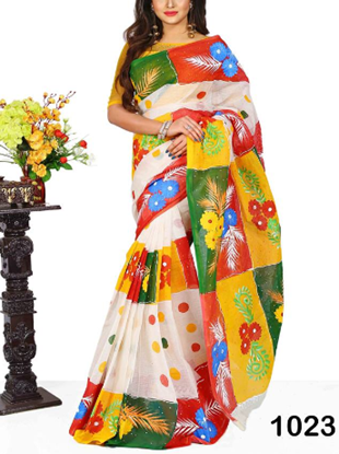 Picture of Cotton Handprint Saree