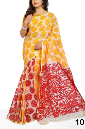 Picture of Wellow & Red Cotton Saree