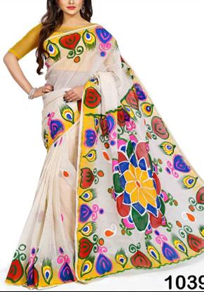 Picture of Cotton Handprint Saree