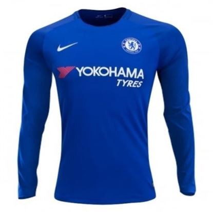 Picture of 2017-18 Chelsea Home Club Full Sleeve Jersey