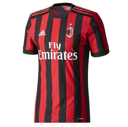 Picture of 2017-18 AC Milan Home Half Sleeve Jersey