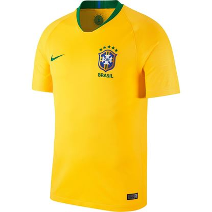 Picture of Brazil Home World Cup Short Sleeve Jersey 2018 - Yellow