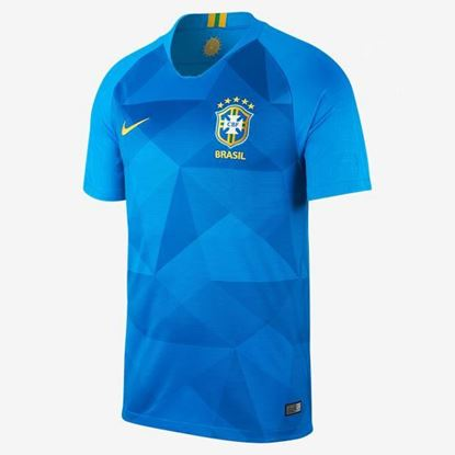 Picture of Brazil Away  World Cup Short Sleeve Jersey 2018 - Light Blue