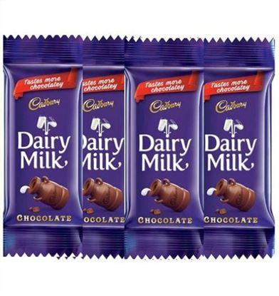 Picture of Cadbury Dairy Milk Chocolate-12gm(4Pcs)