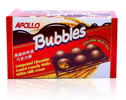 Picture of Bubbles Apollo Chocolate Wafer Bar  24-Pcs