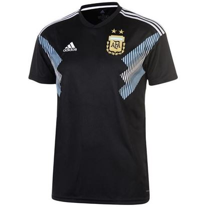 Picture of Argentina Away World Cup Short Sleeve Jersey 2018-Black