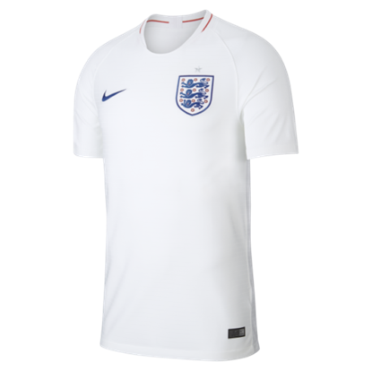 Picture of England Home World Cup Short Sleeve Jersey 2018 -White