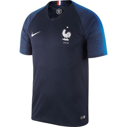 Picture of France Home World Cup Short Sleeve Jersey2018 -Nevy Blue